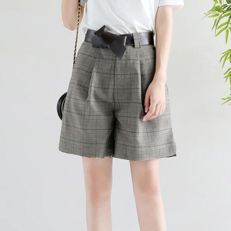 グレンチェック 夏 ショートスカート ショートパンツ 2種選択 0119