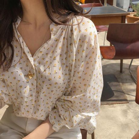 花柄 デザイン シャツ 長袖 0059