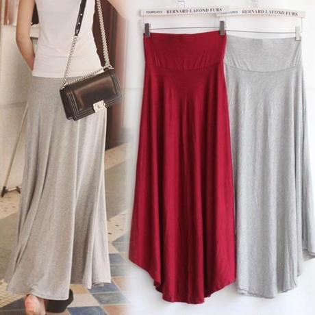 ニュートラルカラー スカート ドレープ アシメ フレア ハイウエスト 大きいサイズ 5色 0361
