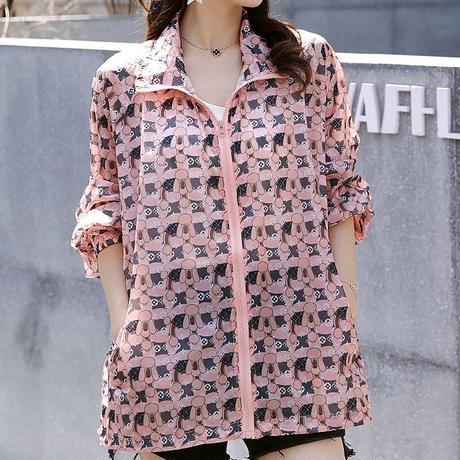 オーバーサイズ ファッション ジャケット 長袖 日焼け防止 大きいサイズ 0138