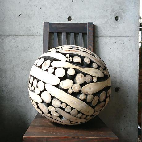 木組み球体オブジェL[BG-Z-0017]