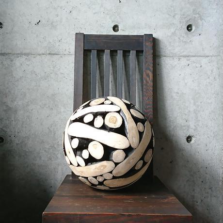 木組み球体オブジェM[BG-Z-0016]