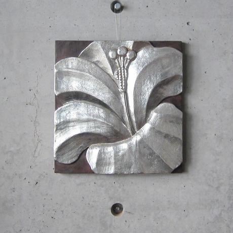 木彫壁掛け(ハイビスカス)[BG-W-0002]