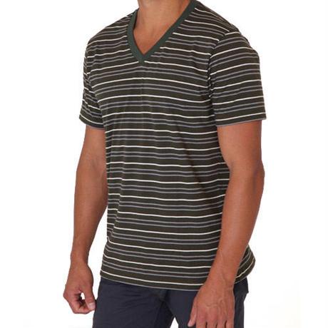 PACT/パクト【S13-MSV-DBS】メンズ Tシャツ MEN'S-V- NECK-DUFFLE BAG STRIPE