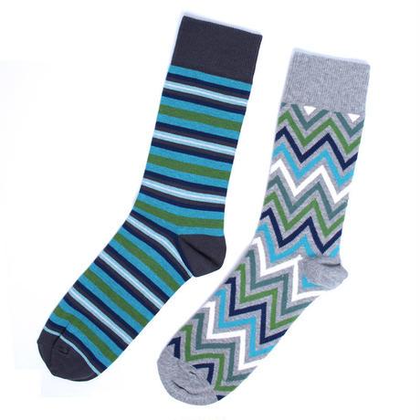 PACT/パクト【SFA-MSK-ALP-1S】メンズ MEN'S-CREW SOCK 2P-ALPINE-オーガニックコットン 2足セット 靴下