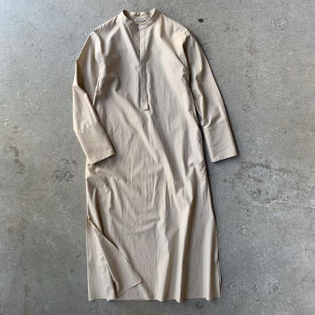 AURALEE - WASHED FINX TWILL STAND COLLAR ONE-PIECE