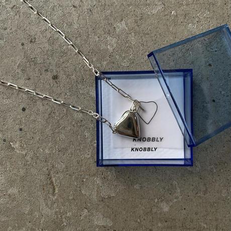KNOBBLY STUDIO - PETTITE HEART LOCKET NECKLACE