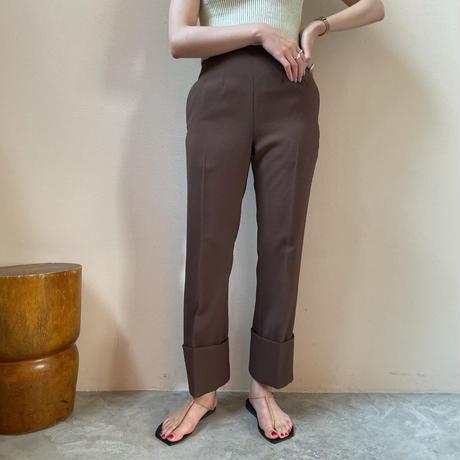 PHEENY - Back satin high waist semi flared slacks