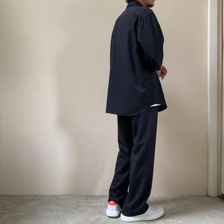 AURALEE MEN - HARD TWIST WOOL DOBBY SLIT SLACK