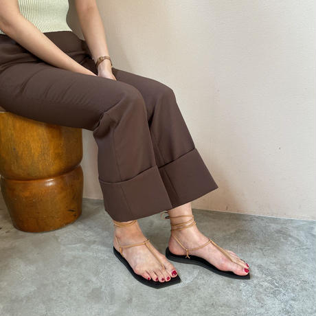 AURALEE - LEATHER LACE-UP SANDALS MADE BY FOOT THE COACHER