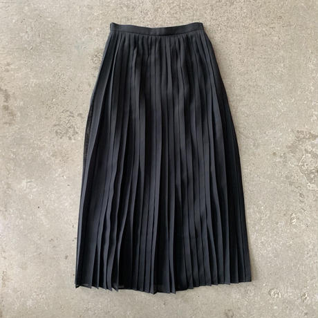 AURALEE - WOOL RECYCLE POLYESTER SHEER CLOTH PLEATED SKIRT