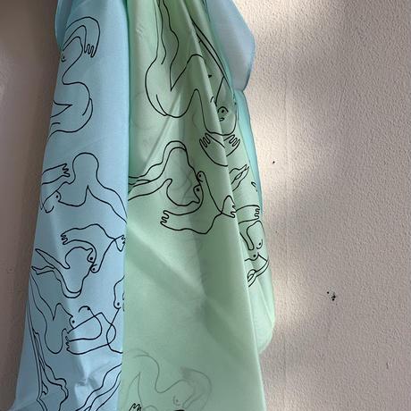 KNOBBLY STUDIO - Mermaids Silk Scarf