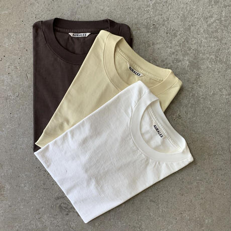 AURALEE - ORGANIC COTTON COMPACT JERSEY TEE