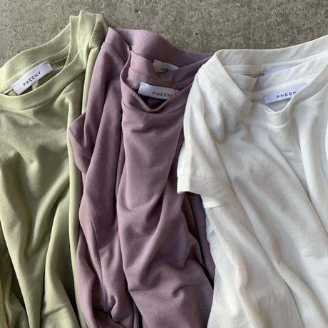 PHEENY - Cotton nylon seer layered Tee