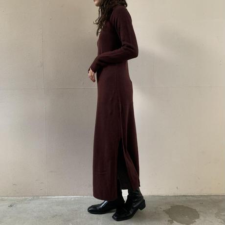 AURALEE - COTTON WOOL CASHMERE KNIT ONE-PIECE