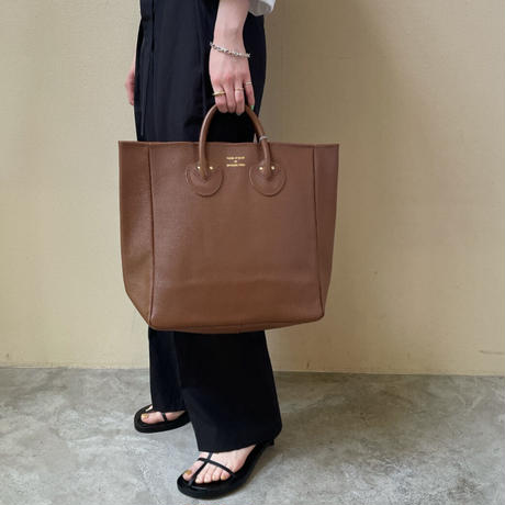 YOUNG&OLSEN - EMBOSSED LEATHER TOTE M