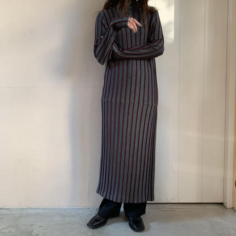 TAN - CABLE STRIPE ONEPIECE