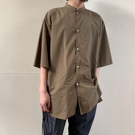blurhms® - High Count Chambray Stand-up Collar Shirt S/S