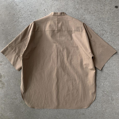 AURALEE - WASHED FINX RIPSTOP CHAMBRAY HALF SLEEVED SHIRTS