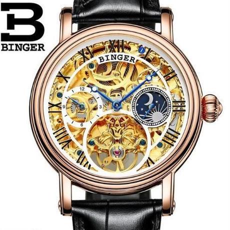 0a73a5a9cbd09b 【送料無料】BINGER メンズ 腕時計 革 高級 デザイン 海外 人気 ビジネス(02) ...