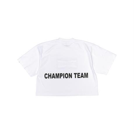 CHAMPION TEAM OVERSIZED CROP Tee ホワイト