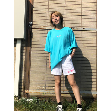 TODAY IS GOOD DAY GARMENT DYED Tee w/t SLIT ラグーンブルー(LB)