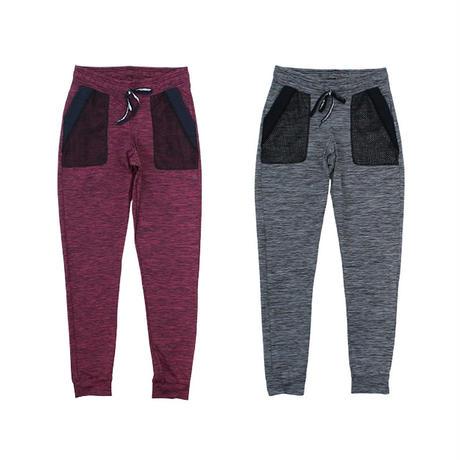 (ROLA MOCA) メッシュ ポケット ジョガーパンツ GRAY WINE Sサイズ 海外