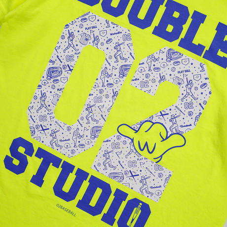 (Wstudio)02BASEBALL Tee ネオンイエロー LadiesMサイズUnisexMサイズ