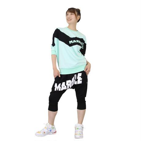 (Marble)サルエルカプリ BLK UNISEX MサイズMLサイズLサイズXLサイズ