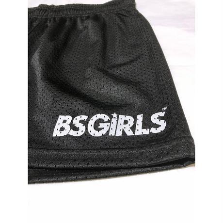 "POP STAR GIRLS LOGO 3.5"" MESH SHORTS ブラック"