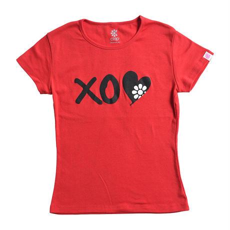 (CLAP)  XO-CLAP Tee レッド