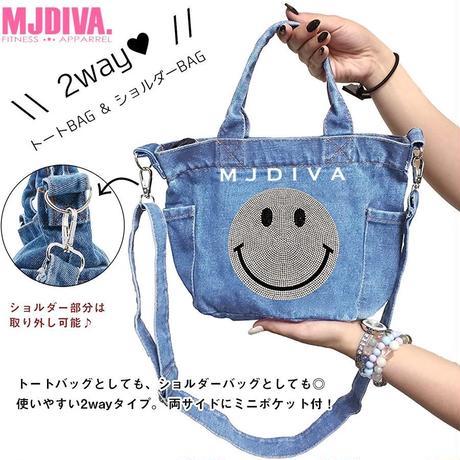 MJDIVA◆スマイルモチーフミニトートバッグ BLU NVY