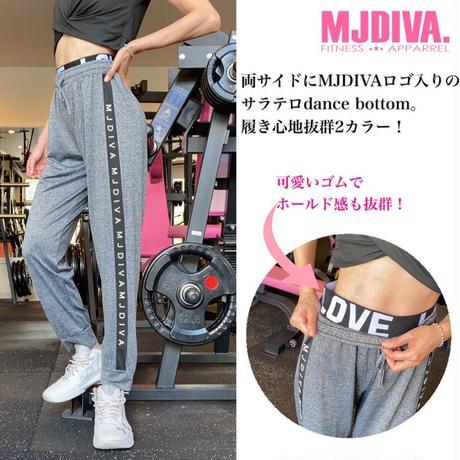 MJDIVA◆サイドLOGO入りDANCEパンツ BK GY