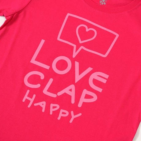 (CLAP)  MAIL  CLAP  Tee トロピカルピンク