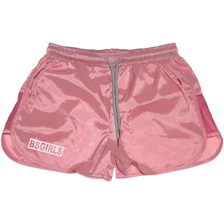 BSG  BOX  LOGO  GIRLS  RUN  SHORT ピンク