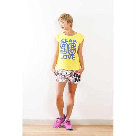 (CLAP)  96 LOVE STAR STRETCH TEE(トートバック付き) イエロー