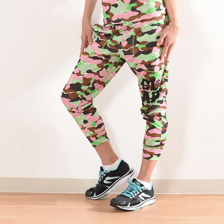 (CLAP)  CAMOUFLAGE  CROPPED PANTS グリーン