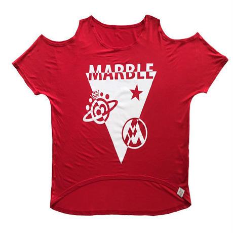 (Marble)  レディース オープンオフショルダー(レッド)