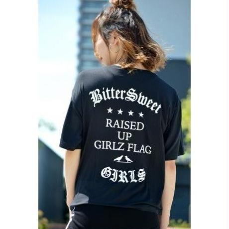 RAISED UP GIRLS FLAG MIX MODAL POCKET Tee ブラック