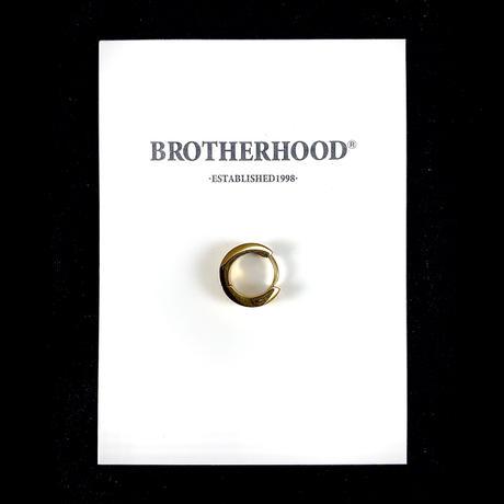 【BROTHERHOOD】サージカル ステンレス フラット フープピアス(UNISEX)