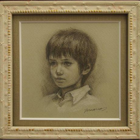 松本貴子「11歳の肖像」13.5×13.5cm  Matsumoto  Takako