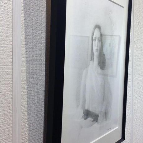 上杉 尚 「青の少女」  H28xW18     Uesugi Takashi