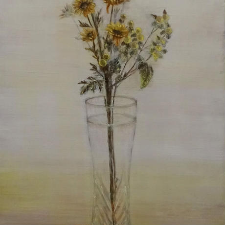 菅野瑠衣「yellow flowers」M6号  SUGANO RUI