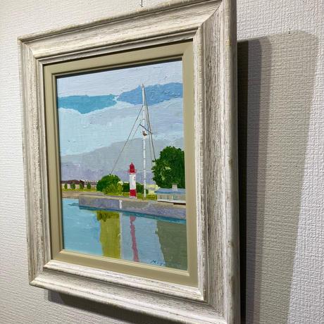 宮田みな美 「オンフルールの灯台」 F3号 Miyata  Minami