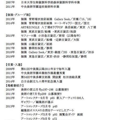 菅野瑠衣「くまとビー玉の静物」F3号  SUGANO RUI
