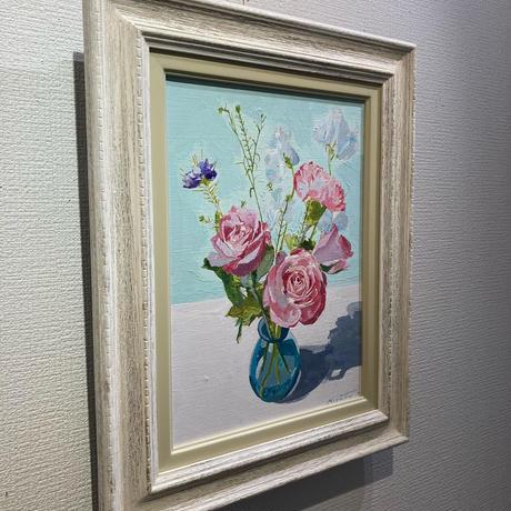 宮田みな美 「赤い花」 F4号 Miyata  Minami