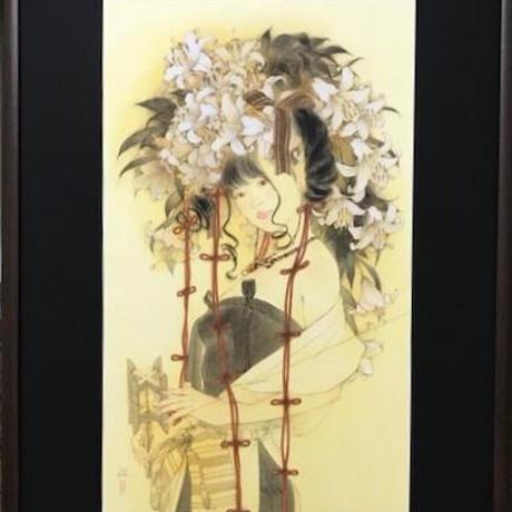 松平一民 「三 輪」(みわ)    74×43.5cm       Matsudaira Kazutami