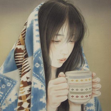 やちだけい「霜 夜」F4号 Yachida  Kei