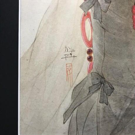 松平一民 「託 宣」(たくせん)    74×43.5cm       Matsudaira Kazutami
