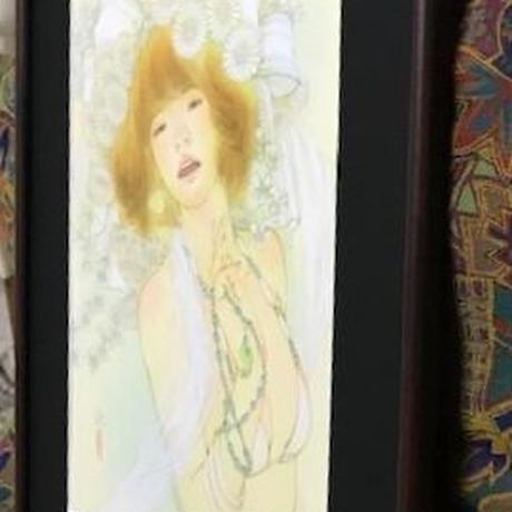 松平一民 「イブキハナチテム」    44×29cm         Matsudaira Kazutami
